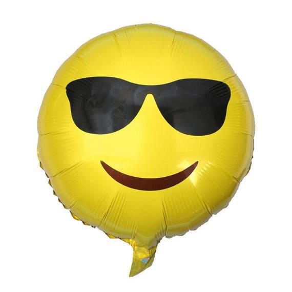 18 Emoji Sunglasses Balloon First Birthday