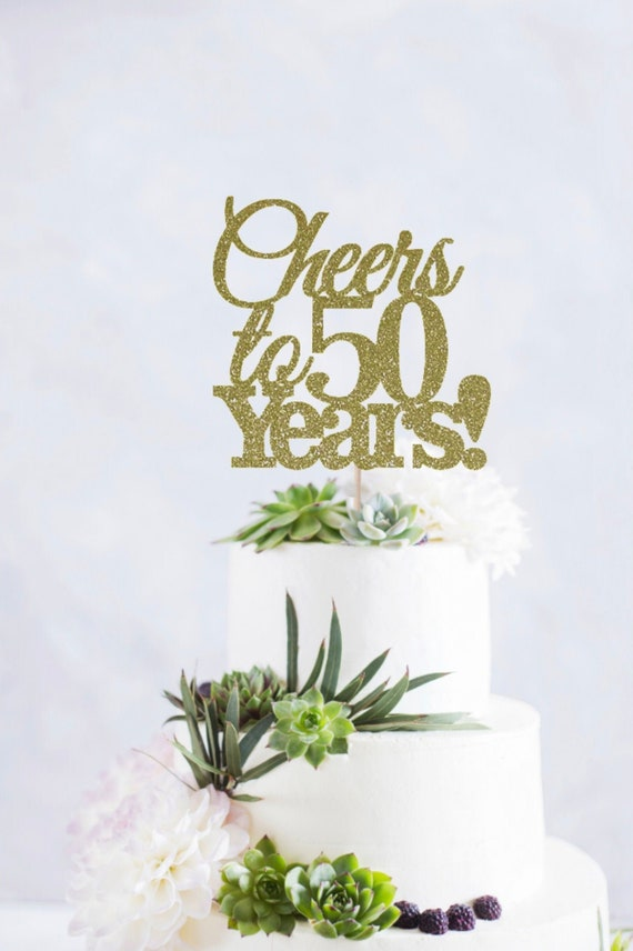 Enjoyable Cheers To 50 Years Cake Topper 50Th Birthday Cake Topper Etsy Funny Birthday Cards Online Eattedamsfinfo