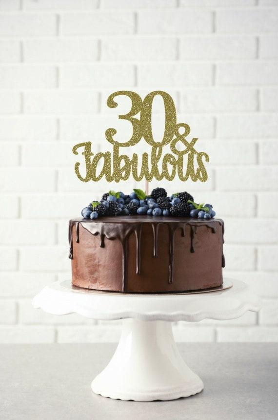 Remarkable 30 And Fabulous Birthday Cake Topper 30 And Fabulous Hello Etsy Funny Birthday Cards Online Overcheapnameinfo