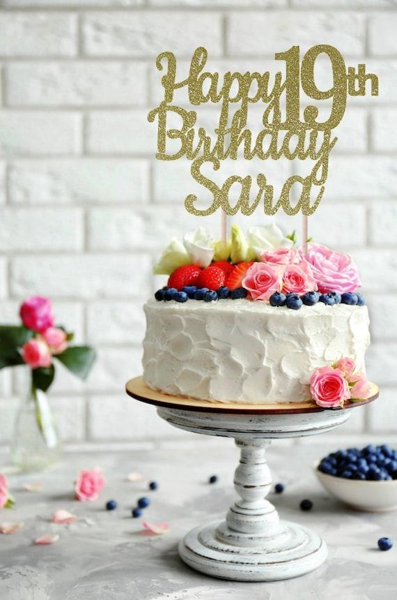 Magnificent Any Name Happy Birthday Cake Topper Birthday Cake Topper Etsy Funny Birthday Cards Online Alyptdamsfinfo