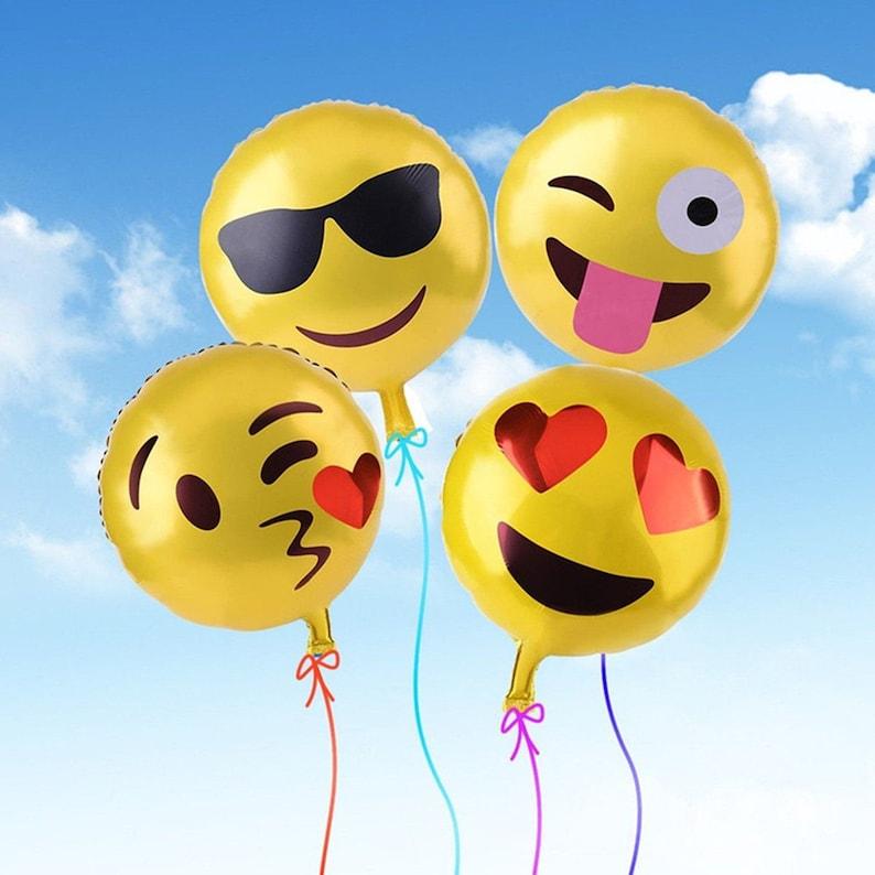 18 Emoji Kissing Heart Balloon First Birthday