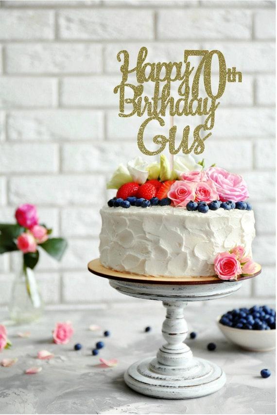 Enjoyable Any Name Happy 70Th Birthday Cake Topper 70Th Birthday Cake Etsy Funny Birthday Cards Online Kookostrdamsfinfo
