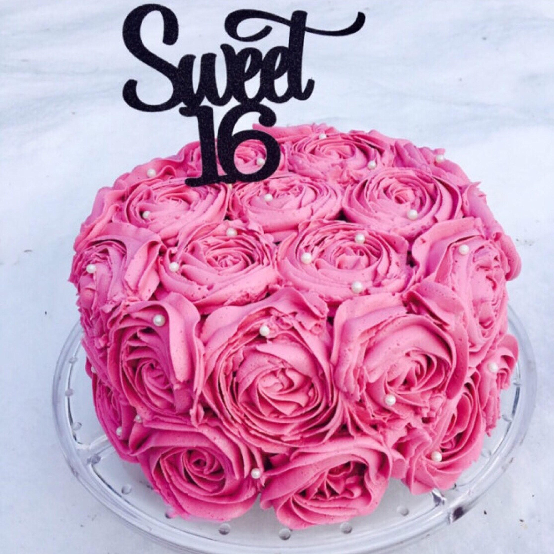 Sweet 16 Cake Topper Sweet Sixteen Cake Topper Birthday Age