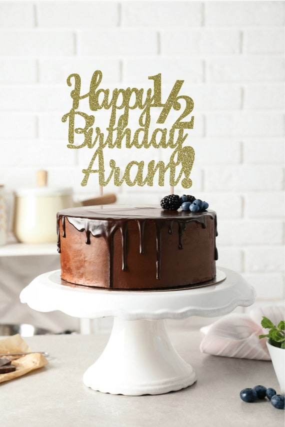 ANY NAME Happy Birthday Cake Topper