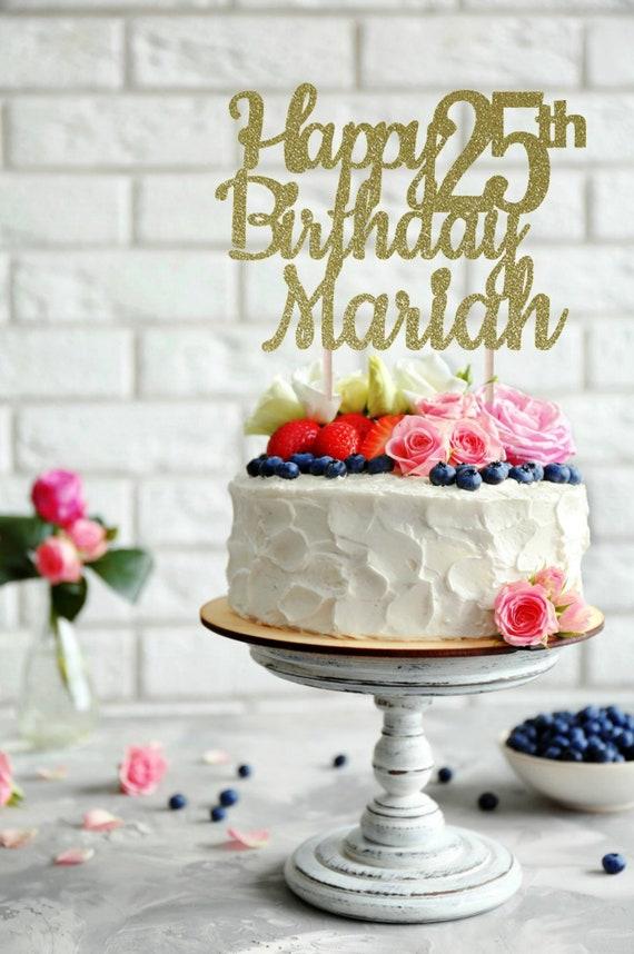 ANY NAME Happy Birthday Cake Topper 25th
