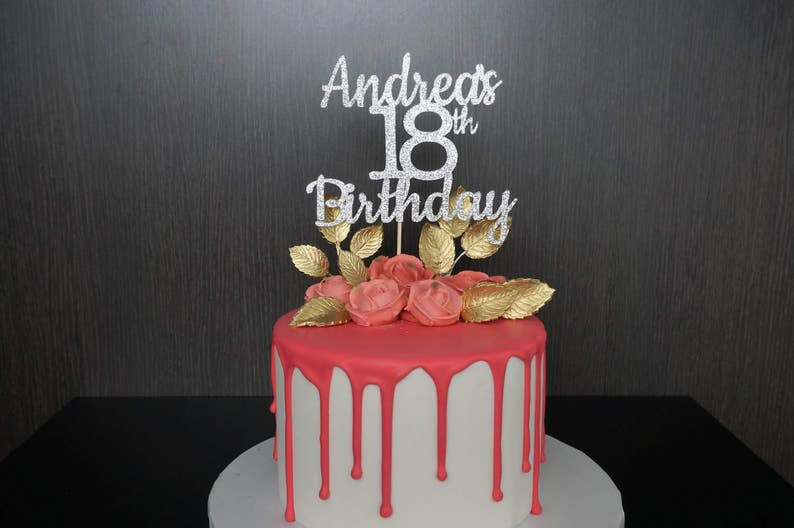 ANY NAME 18th Birthday Cake Topper Customized