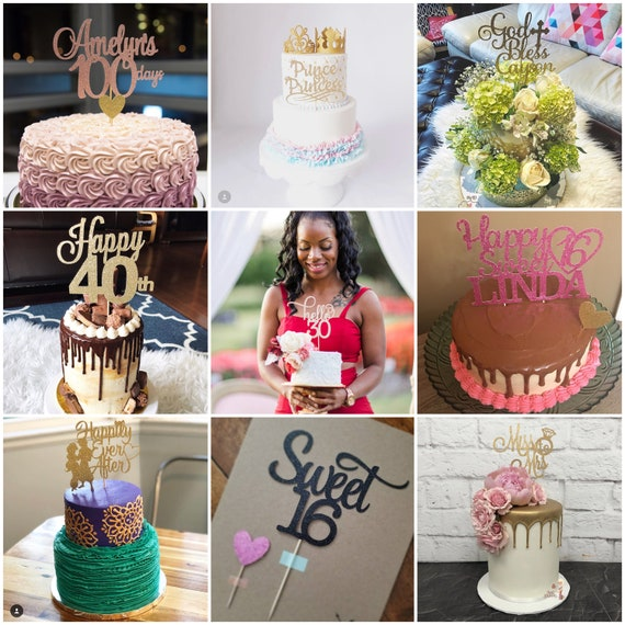 1st Birthday Cake Topper TrendiConfetti Little Miss ONEderful Cake Topper