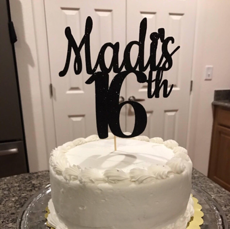 Incredible Any Name And Age Happy Birthday Cake Topper Birthday Cake Etsy Personalised Birthday Cards Veneteletsinfo