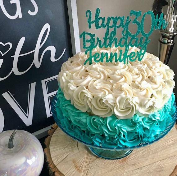 ANY NAME Happy 30th Birthday Cake Topper
