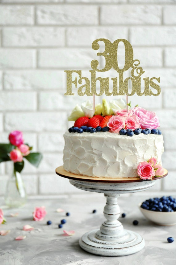 30 And Fabulous Birthday Cake Topper 60