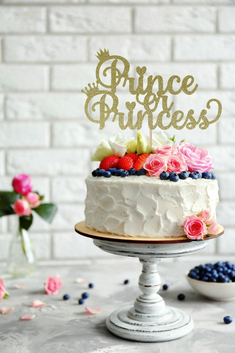 Prince Or Princess Cake Topper Baby Shower Cake Topper Etsy
