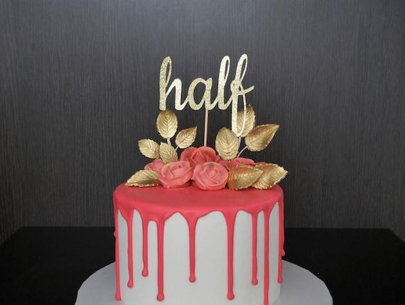 1 2 Cake Topper Half 6 Months Birthday