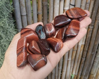 Large Red Tigers Eye, Red Tiger Iron, Tumbled Red Tigers Eye, Tigers Eye