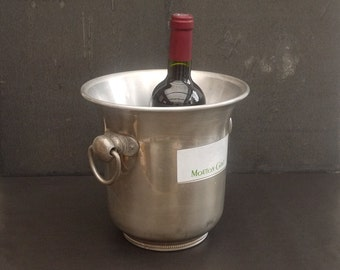 french Champagne Ice Bath Mouton Rothschild, Advertising Party Ice Bucket Caddy