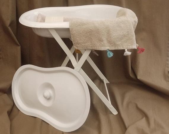 Antique French Enamel Baby Bath Basin Bidet or Bird Bath with | Etsy