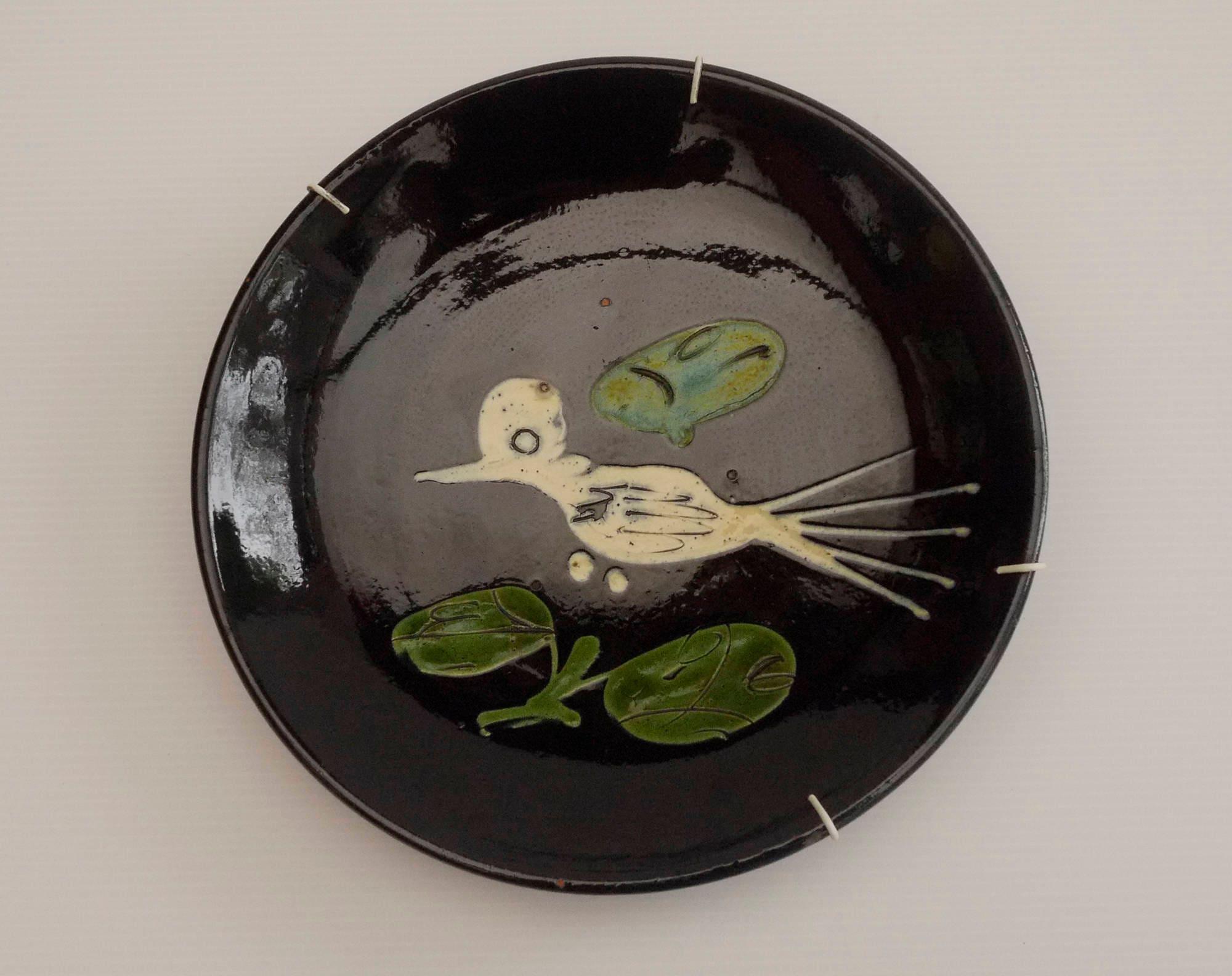 Assiette murale en terre cuite verniss e poterie de marnaz - Assiette murale ...