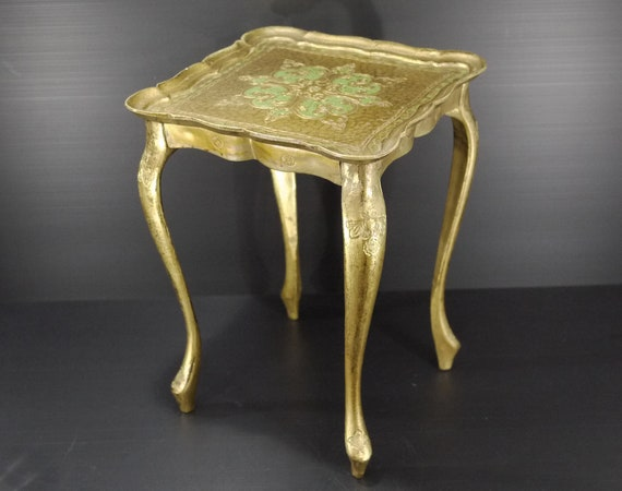 Florentine End Table Side Table Gold Gilt Accent Rococo Etsy - Rococo side table