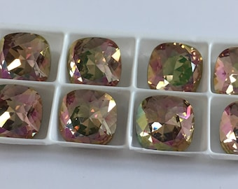 Set of 9 Swarovski cabochon crystals 4470 12mm