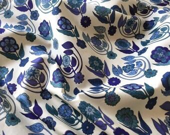 Cotton print purple blue and green - 100cm x 140cm