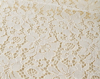 Haute Couture floral French guipure lace