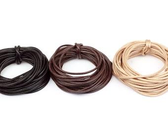 dark grey 5m cotton band 5 m wax band 2.5mm waxed cord jewellery band