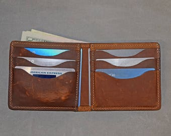 Horween Essex Leather Bifold Wallet Made in USA Bifold  3eff88fb5047