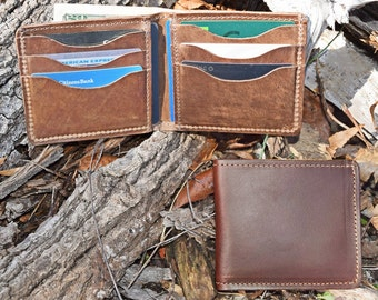 Horween Leather Bifold Wallet Made in USA