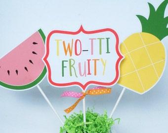 Tutti Fruitti Birthday Party Centerpiece Sticks - Twotti Frutti Centerpiece - Fruit Centerpiece- Tutti Frutti Birthday - Tutti Fruitti decor