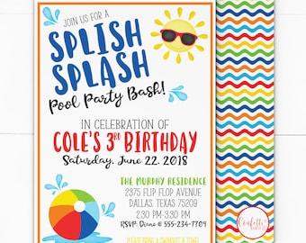 popsicle party invitation popsicle birthday invite pool etsy