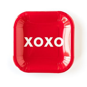 Red and Pink Valentine Plates Valentine/'s Day Party Plates 12 Valentine Paper Plates Valentines Party Supplies