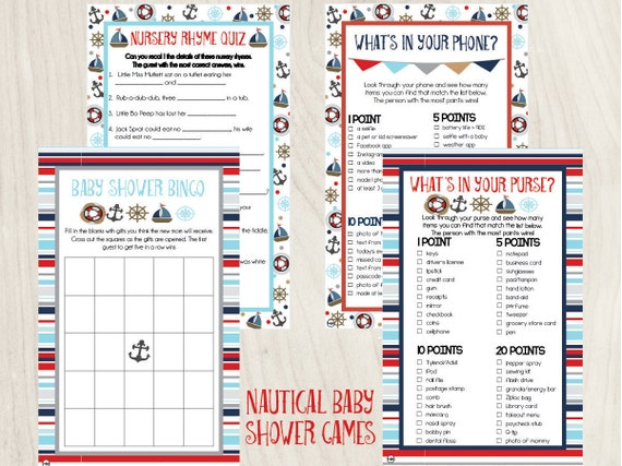 Nautical Baby Shower Games Nautical Baby Shower Ahoy It S A Boy