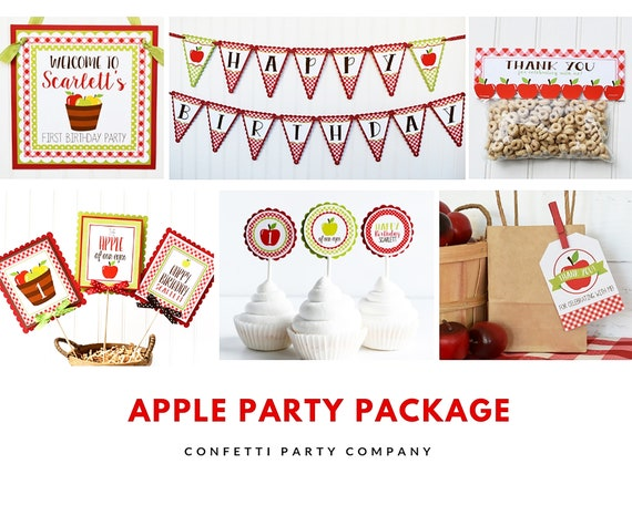 Apple Birthday Decorations