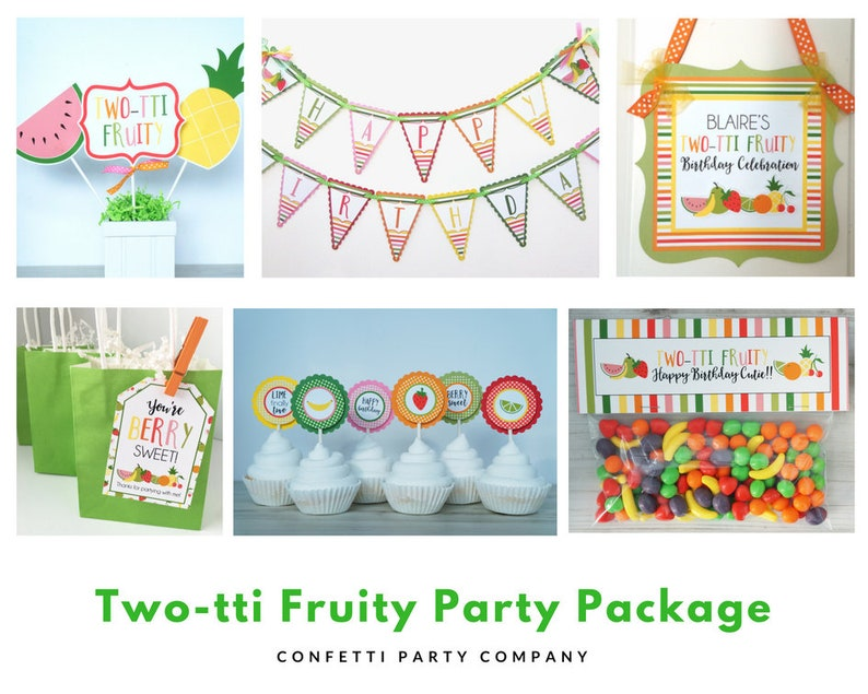 Tutti Frutti Birthday Decorations Party Package