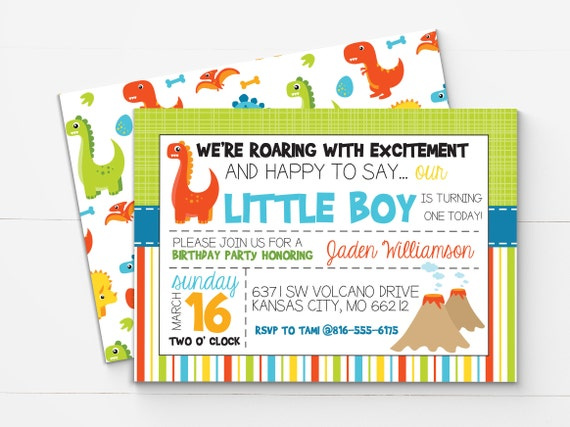 dinosaur birthday invitation printable dinosaur theme first