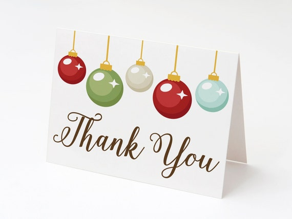 Christmas Thank You Cards Blank Holiday Thank You Cards Set Of 12