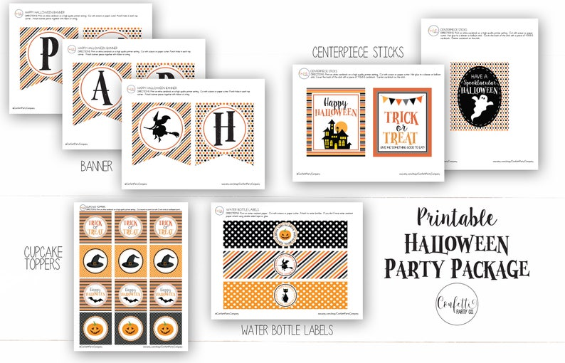 photograph regarding Halloween Decorations Printable identify Printable Halloween Decorations, Halloween Occasion Printables, Halloween Decorations