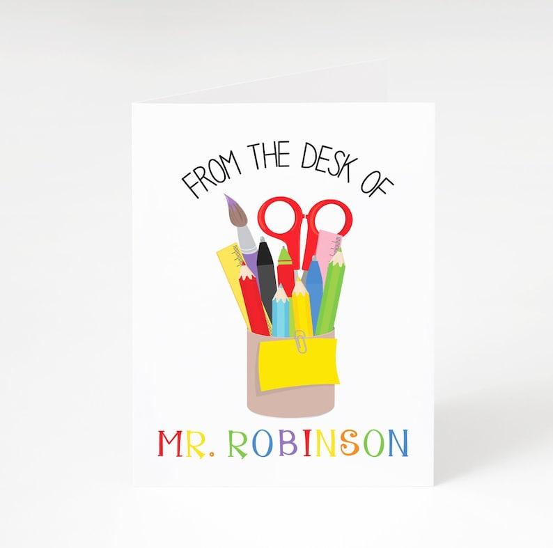Teacher Gift Christmas Teacher Gift Personalized Teacher Appreciation Gift Male Teacher Gift Personalized Teacher Note Cards