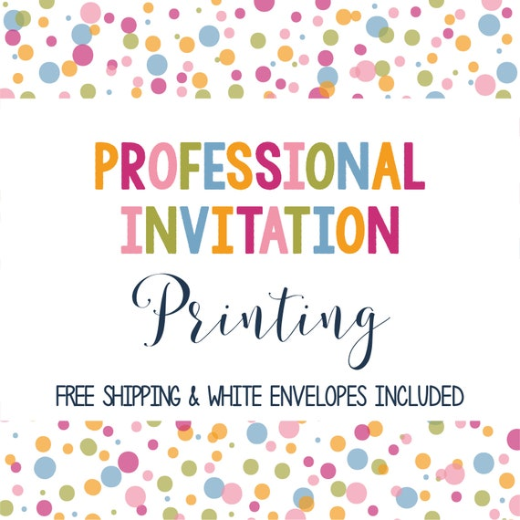professionally printed invitations etsy