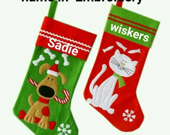 pet stocking personalized pet stocking cat christmas stocking dog christmas stocking custom christmas stocking furbaby stocking
