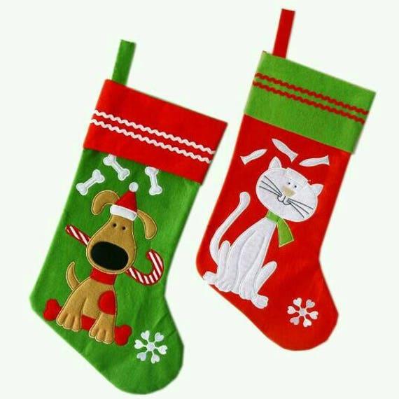 Cat Christmas Stockings.Pet Stockings Personalized Pet Stockings Cat Christmas Stocking Dog Christmas Stocking Custom Christmas Stocking Cat Christmas Stocking