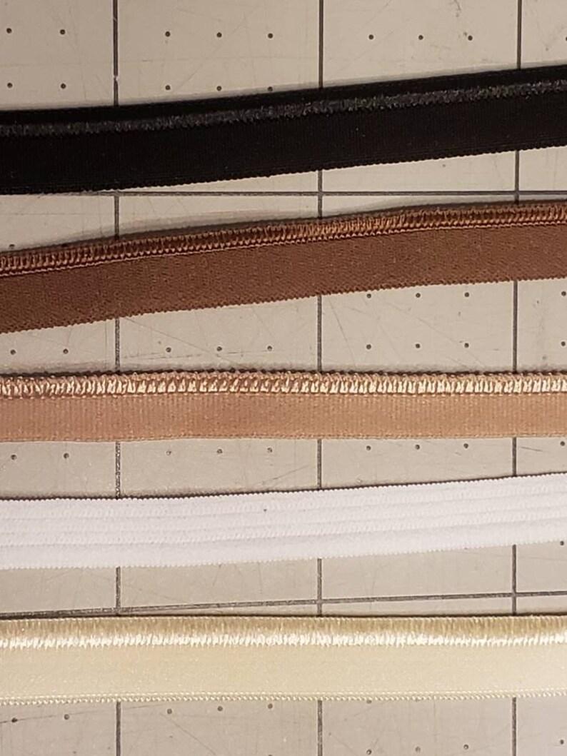 stretch ribbon edge elastic Stretch piping piping rolled edge elastic whiteblackbeigechocolatecream baby piped elastic