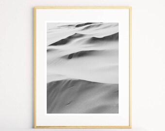 Desert Sand Print, Desert Photography Print, Black and White Printable Wall Art, Sand Photography Print, Large Printable Wall Art