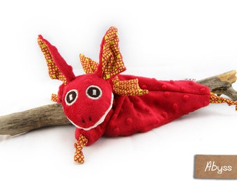 Red Dragon blankie - Red Dragon security blanket - Stuffed Animal - Baby Shower Gift - Baby gift