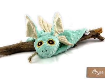 Blue Dragon blankie - Blue Dragon security blanket - Stuffed Animal - Baby Shower Gift - Baby gift