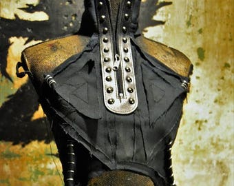 The Enchantress SceneSick Halter Battleskirt Post Apocalyptic Wasteland Costume Carvival Bodice