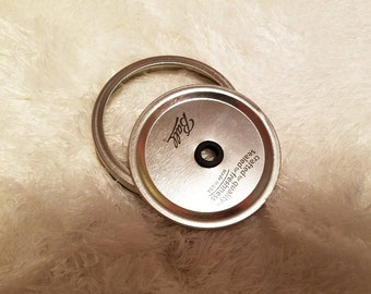Wide Mouth Mason Jar Lid/Lid W. Hole For Mason Jars/Wide Mouth Mason Jar/Lid For Mason Jar Wide Mouth/Mason Jar/Gift/Birthday Gift/Christmas