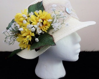 482cdc3ae38 Sunflower Hat with Custom Lace -- Kentucky Derby