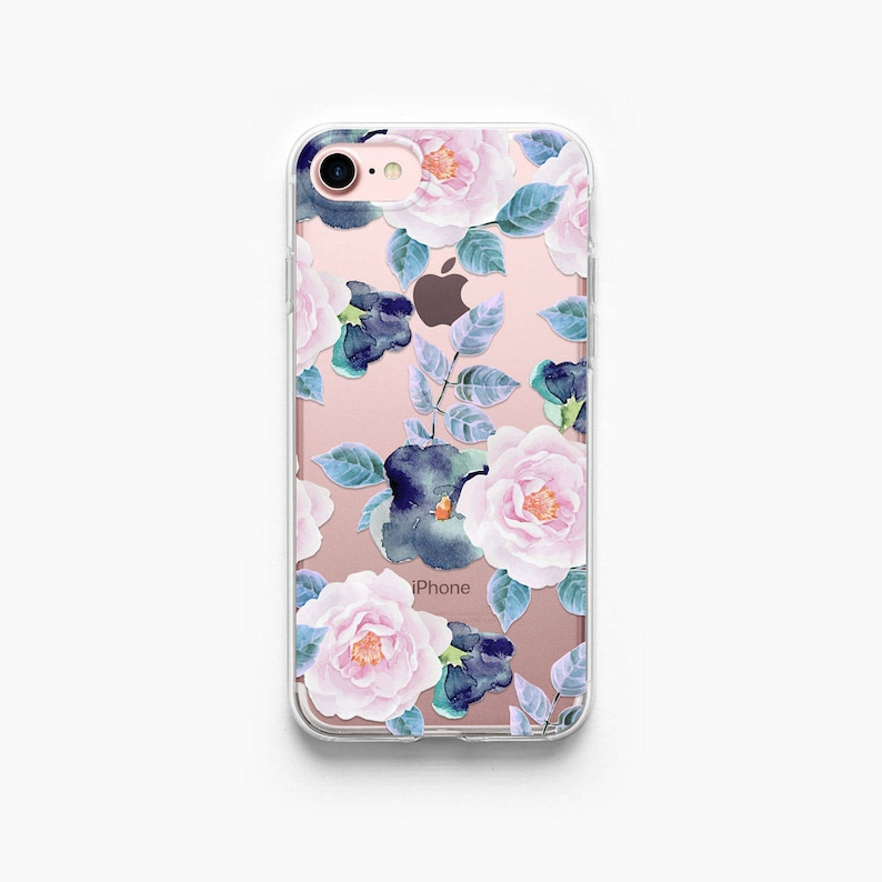Iphone 7 Plus Case Roses Iphone 7 Case Floral Iphone 8 Case Etsy