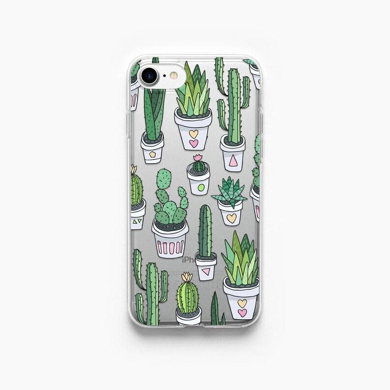 low priced fda29 e0cdc iPhone 7 Case Cactus iPhone 6 Case iPhone 7 Plus Case iPhone X Case iPhone  6s Case iPhone 8 Case iPhone 8 Plus Case Succulent Clear