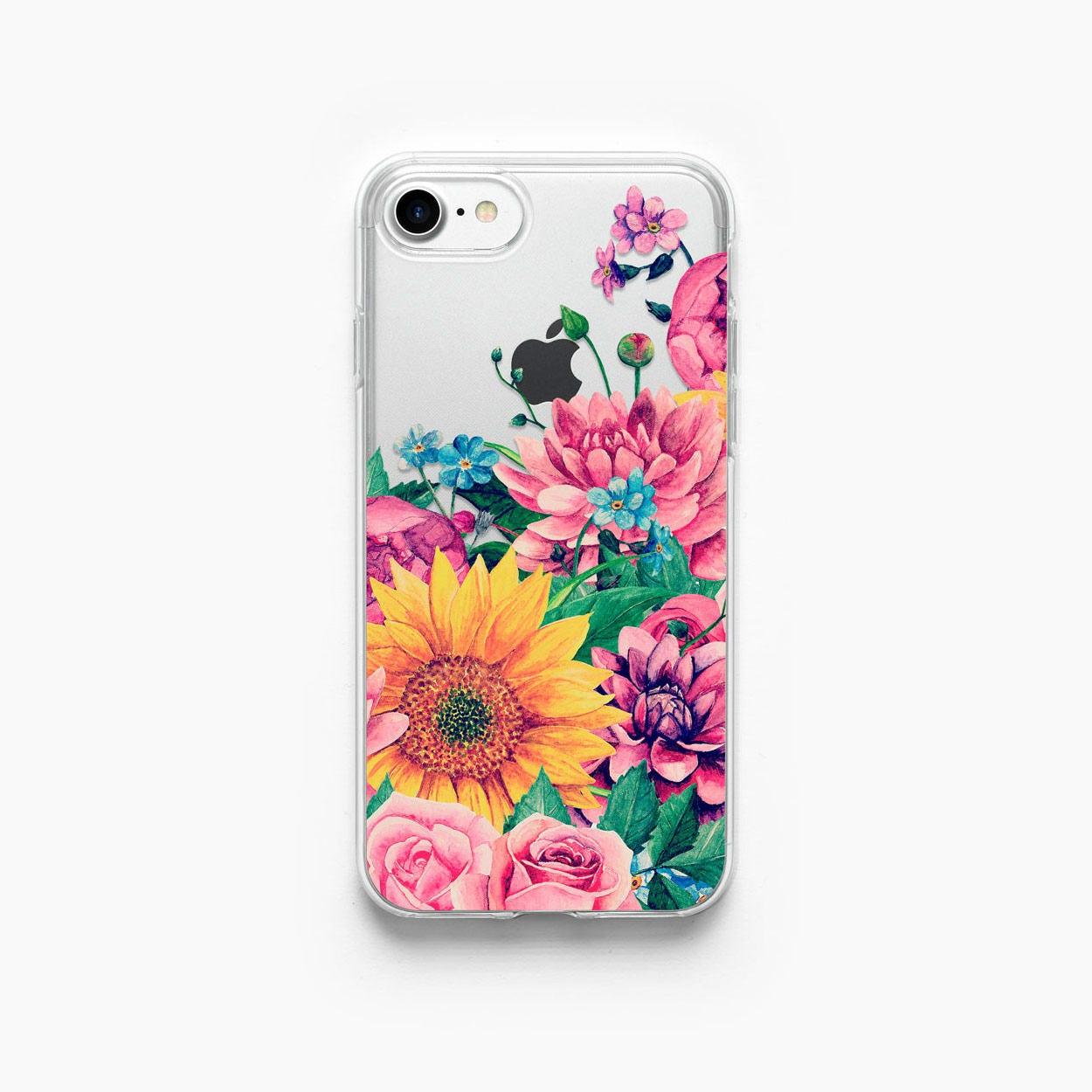 iPhone 7 Case Sunflower Floral iPhone 6 Case iPhone 7 Plus ...